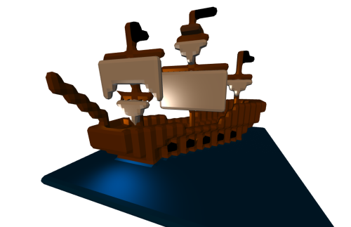 Pirate-ship-in-twilight